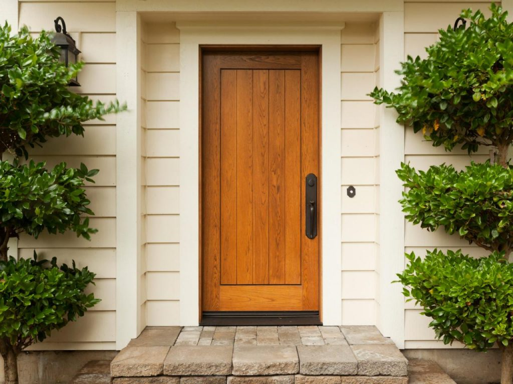 Bold Natural Wood Front Door