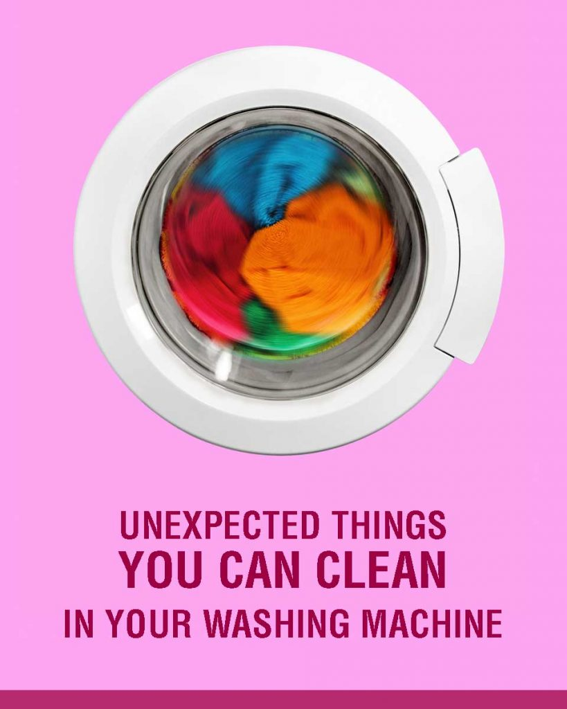 7 Unexpected Things You Can Clean in your Washing Machine