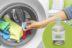 7 Ways To Get Rid Of Static Charge From Clothes - Rinse garment with vinegar