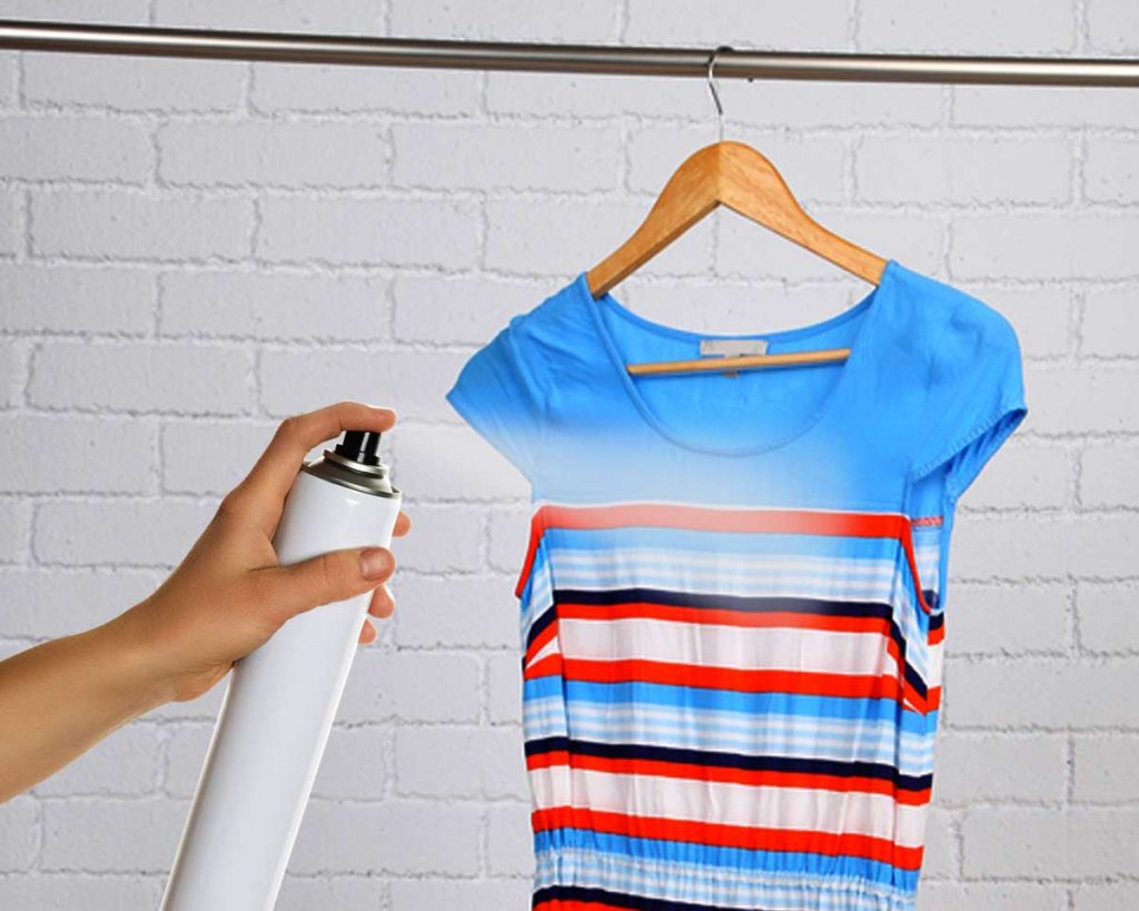 7 Ways To Get Rid Of Static Charge From Clothes - Use a hairspray