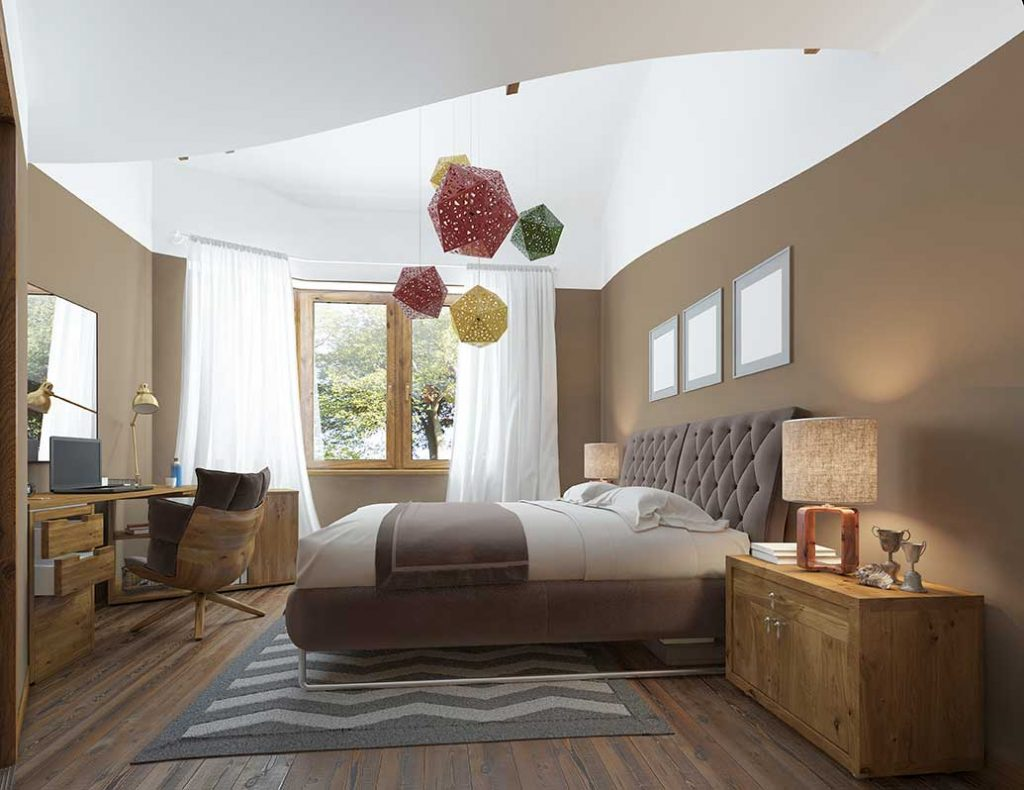 Bedroom Decorating Rules - Don't be too matchy-matchy