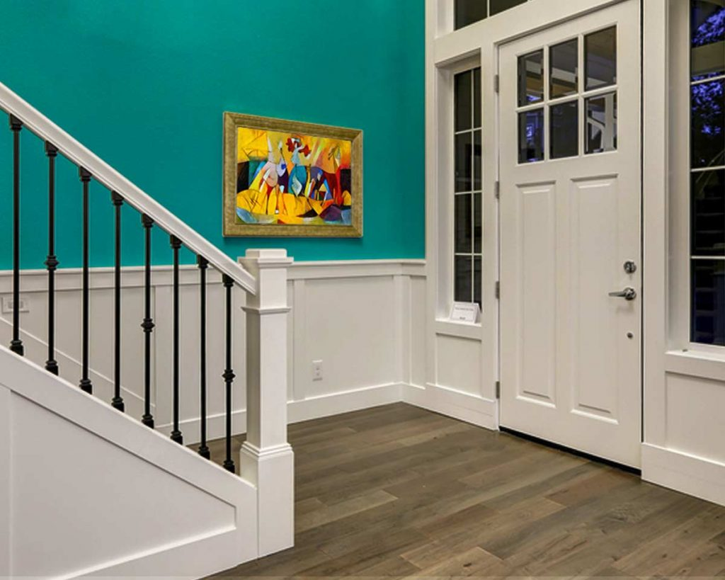 Decorate Your Entryway To Create A Lasting Impression - Add a work of art
