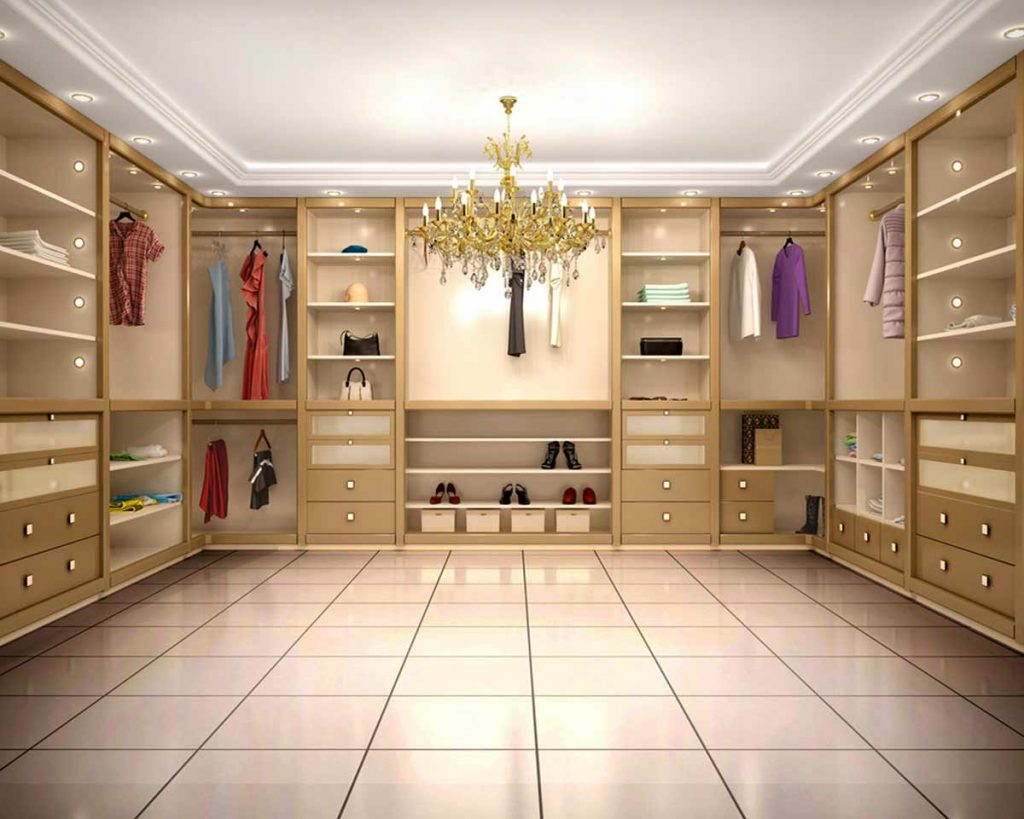 Your Guide To Different Kinds of Wardrobes - Walk-in closet