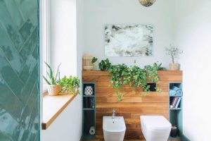 9 Ingenious Tips To Give Your Bathroom A Glamorous Face-Lift - Add plants