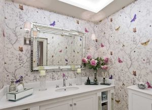 9 Ingenious Tips To Give Your Bathroom A Glamorous Face-Lift - Dress up a wall