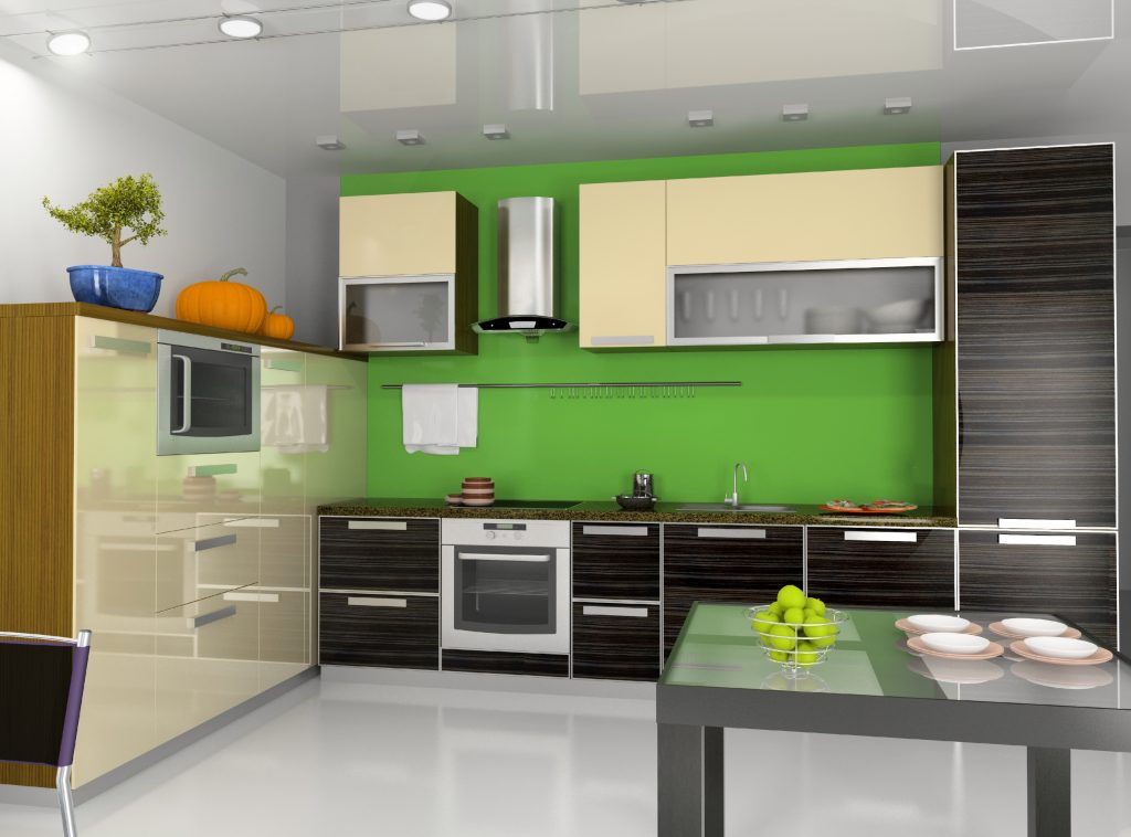 Contrasting Paint Kitchen Backsplash
